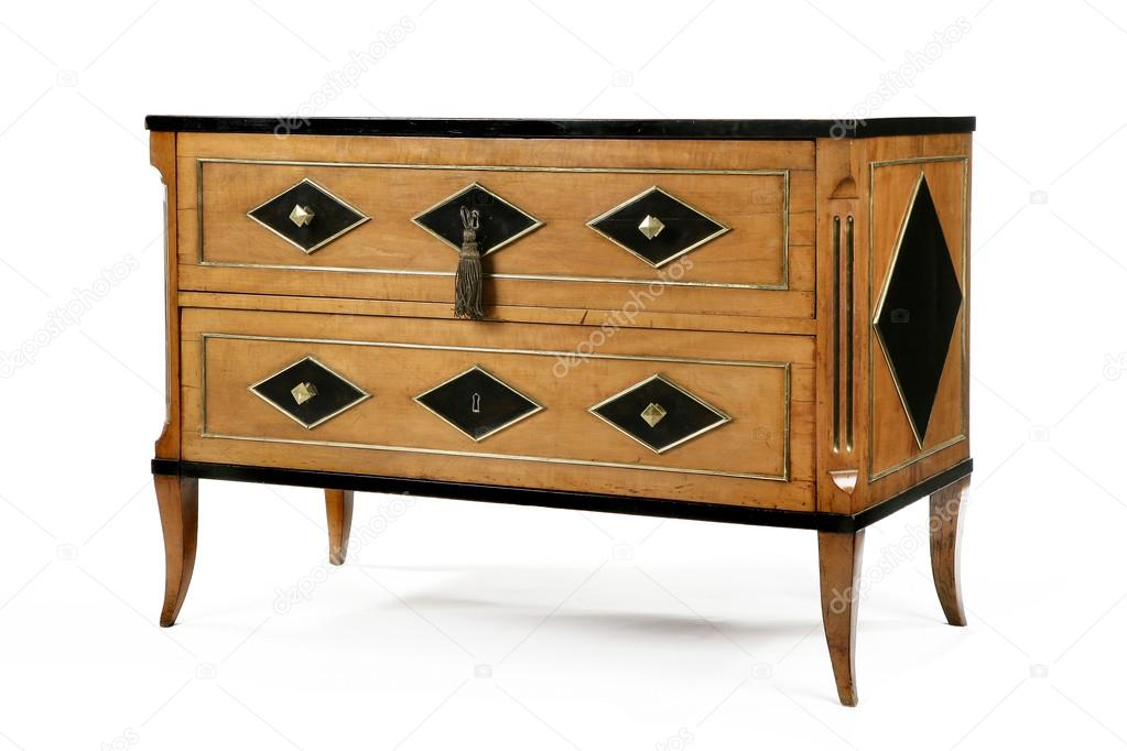 Ancienne commode de coffre en bois vintage original — Photographie ...