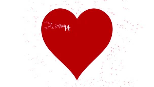 Šťastné valentýny den přání animovaného překlep textu s alfa kanálem