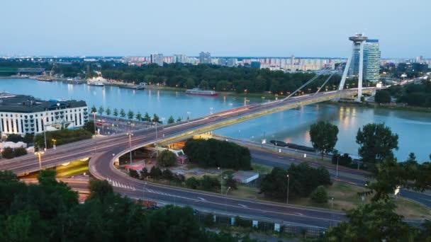 Bratislava time-lapse during sunset
