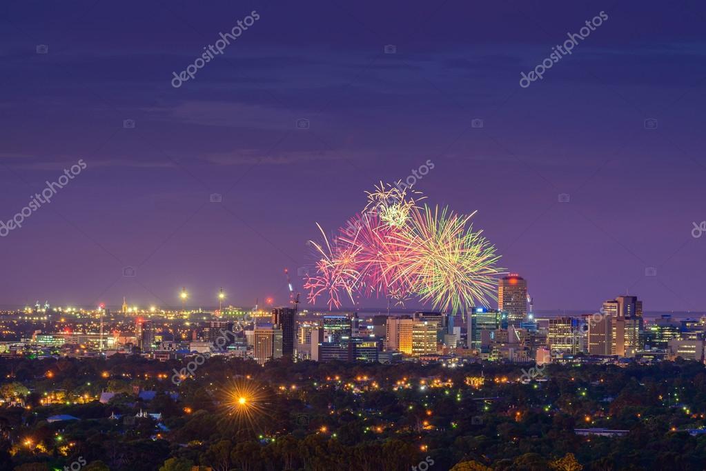 Adelaide fireworks show