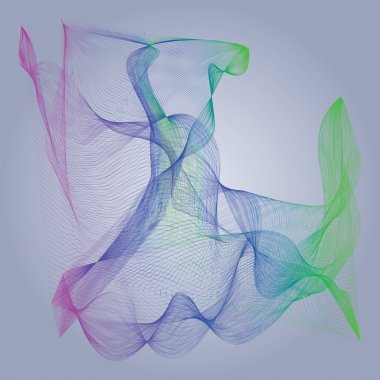 Abstract vector background with flowing color lines.