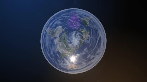 Ploché zobrazení diagramu Země