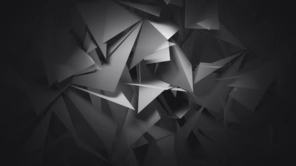 Sötét geometriai 3D sokszögek