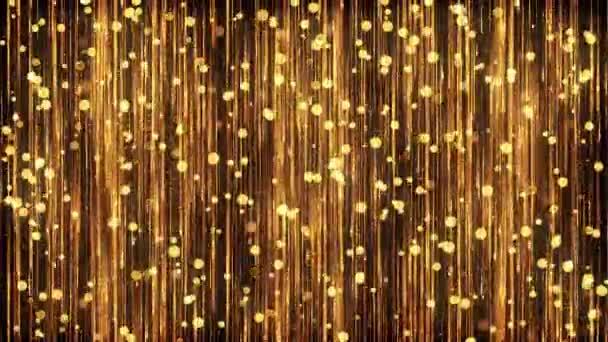 Video zlatých částic pozadí