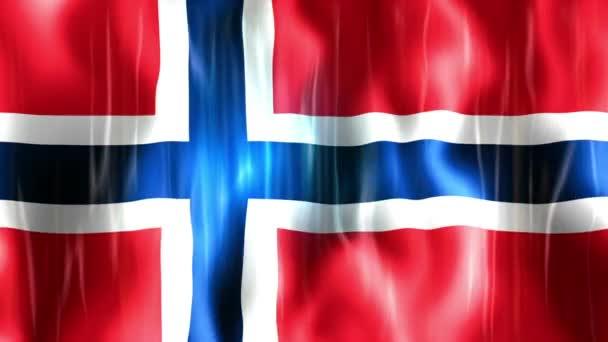Video norské vlajky