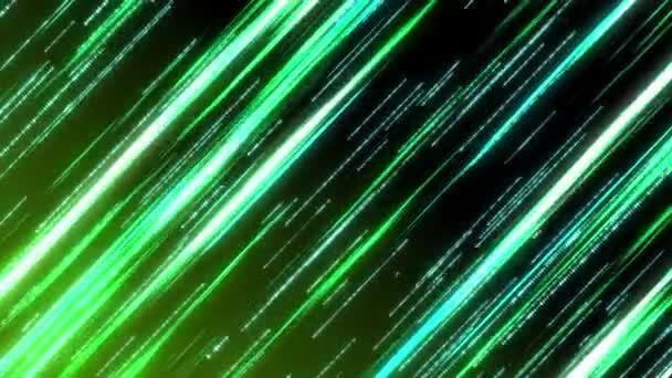 Shooting star neon streaks -green