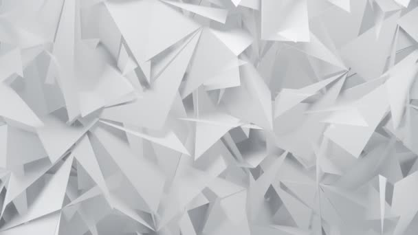 White Geometric 3D Polygons