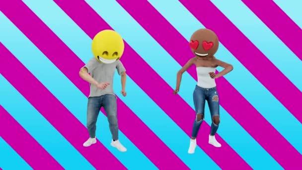Tanzpaar Mädchen und Jungen genießen Veranstaltung am Wochenende