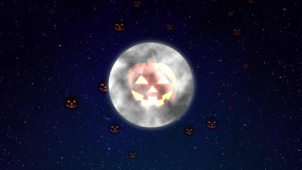 Halloween CG dýně měsíc