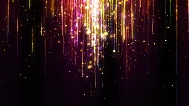 Video smyčky paprsků částic