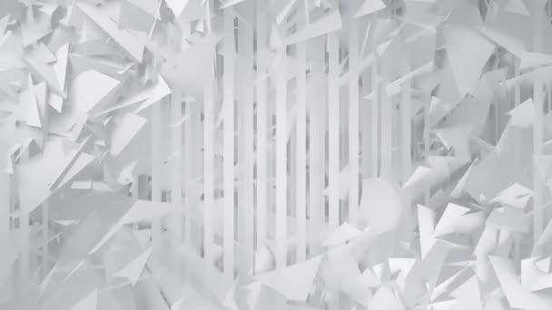 Mnohoúhelníky a čáry Bílé geometrické abstraktní pozadí