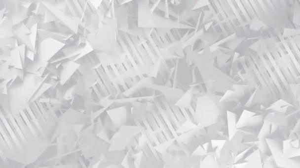 Polygone und Linien weißer geometrischer abstrakter Hintergrund