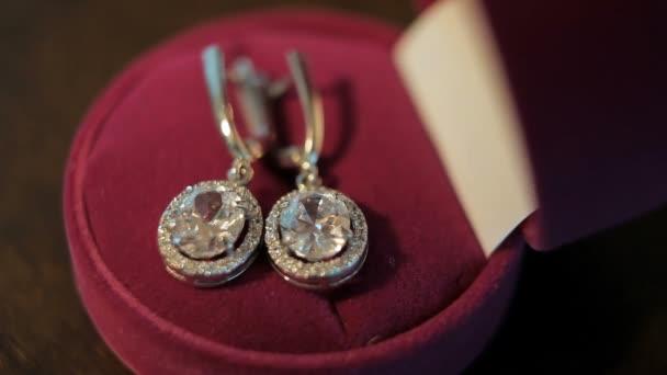 Diamond earrings. White gold.