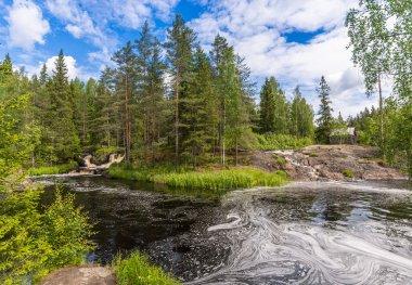 Waterfalls on the River Tokhmayoki, Ruskeala.
