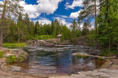 Waterfalls and River Tokhmayoki (Ruskeala).