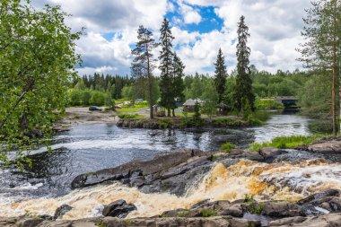 Waterfall and River Tokhmayoki, Ruskeala.