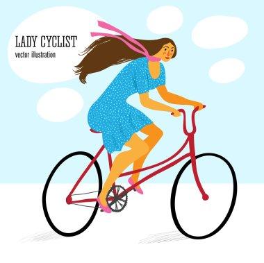 Cute lady cyclist
