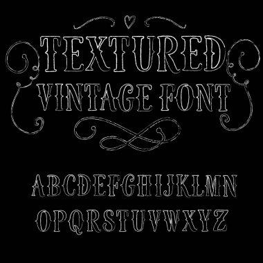 Vintage hand written vector font