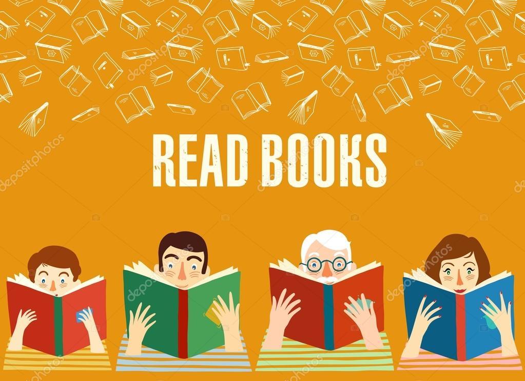 Imagenes De Personas Leyendo Libros Animadas