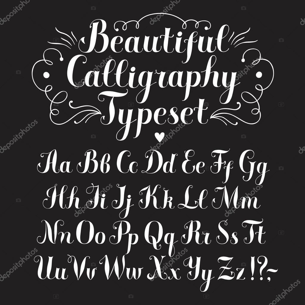 kalligraphie vektor schrift stockvektor 88418054. Black Bedroom Furniture Sets. Home Design Ideas
