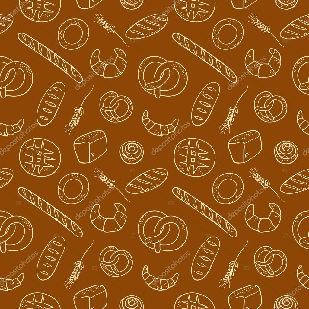 Background image 8841 - Hand Drawn Doodle Bakery Seamless Background Stock Vector 88418060