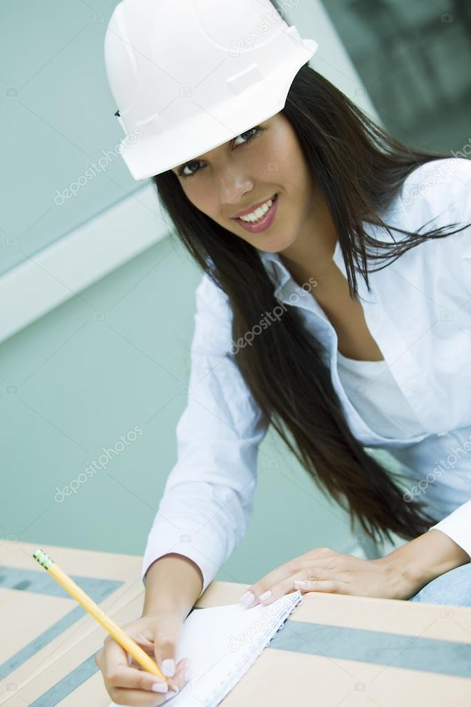 Female engineer working