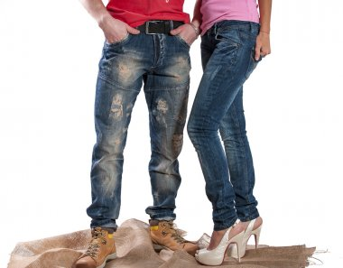 Men's and women's jeans
