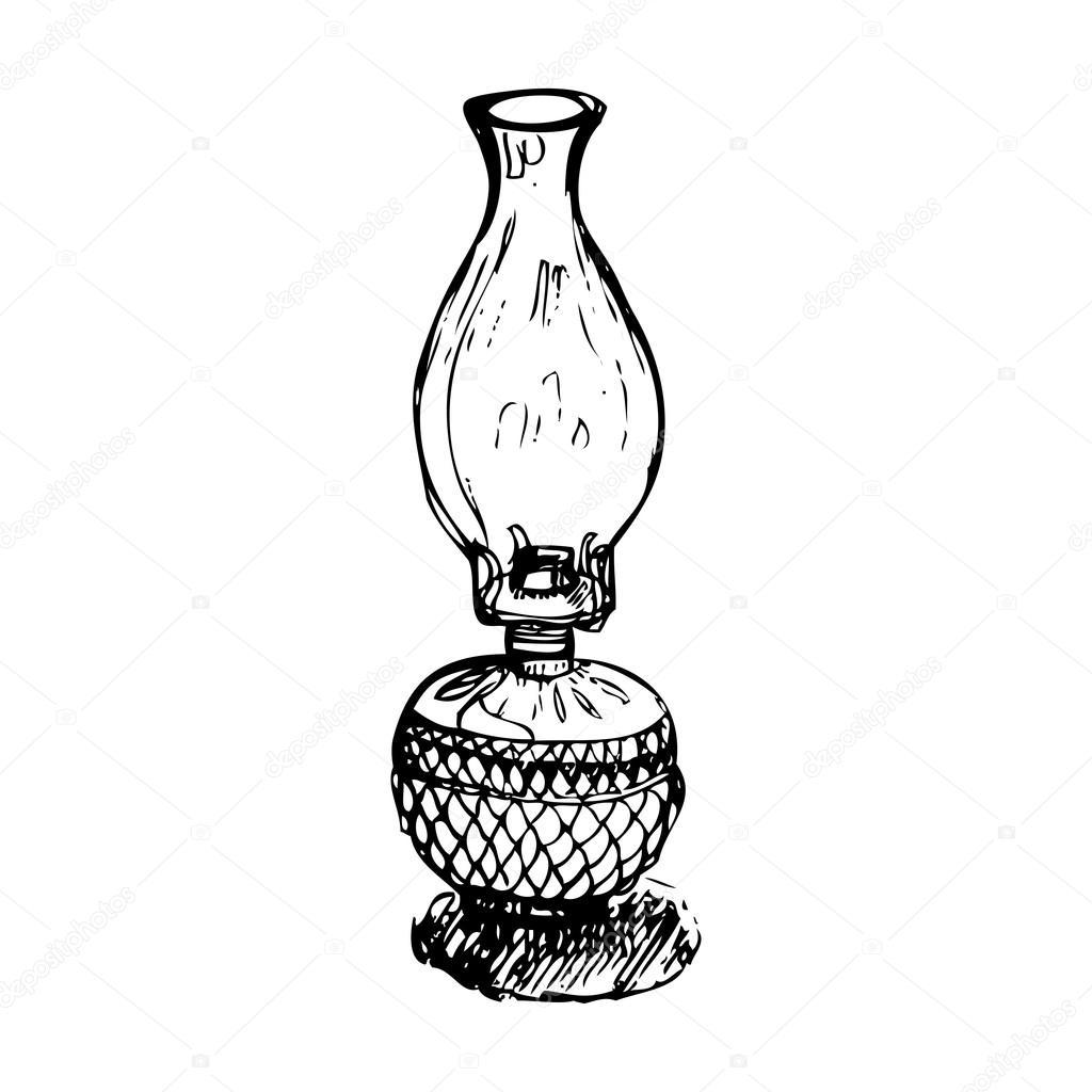 Antique Lantern Vector Stock