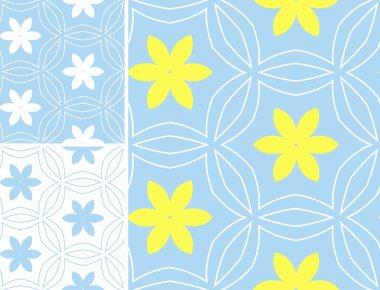 Multicolor set geometric patterns in bright color