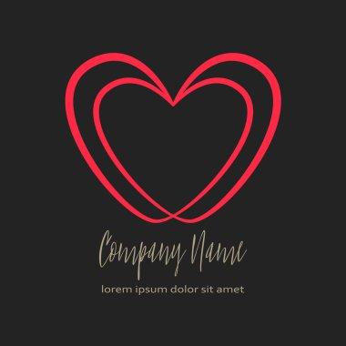 Conceptual Double heart icon