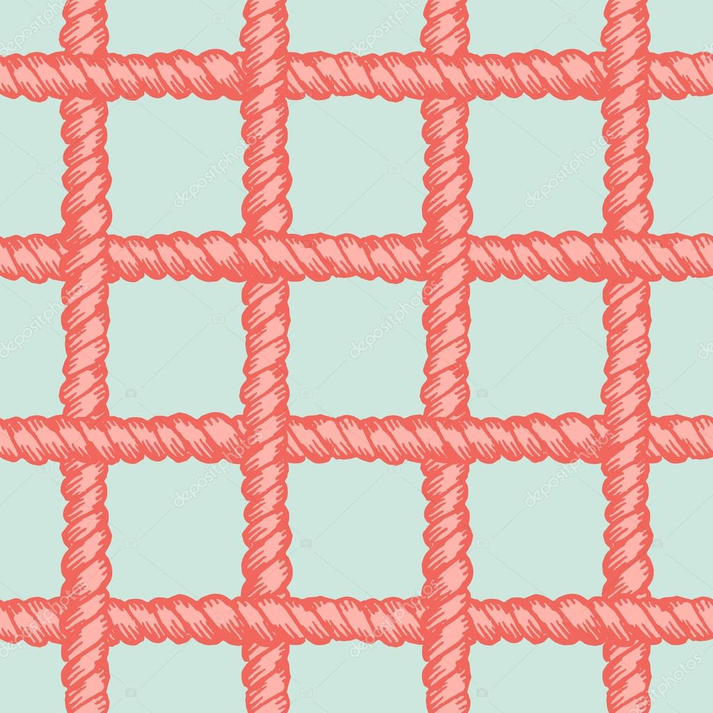 Marine rope net seamless pattern — Archivo Imágenes Vectoriales