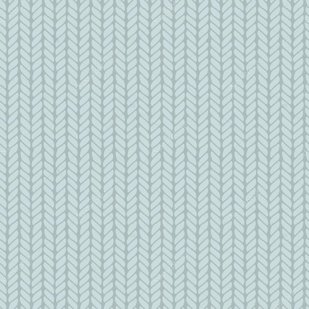 Decorative knitting braids seamless pattern. — Stock Vector ...