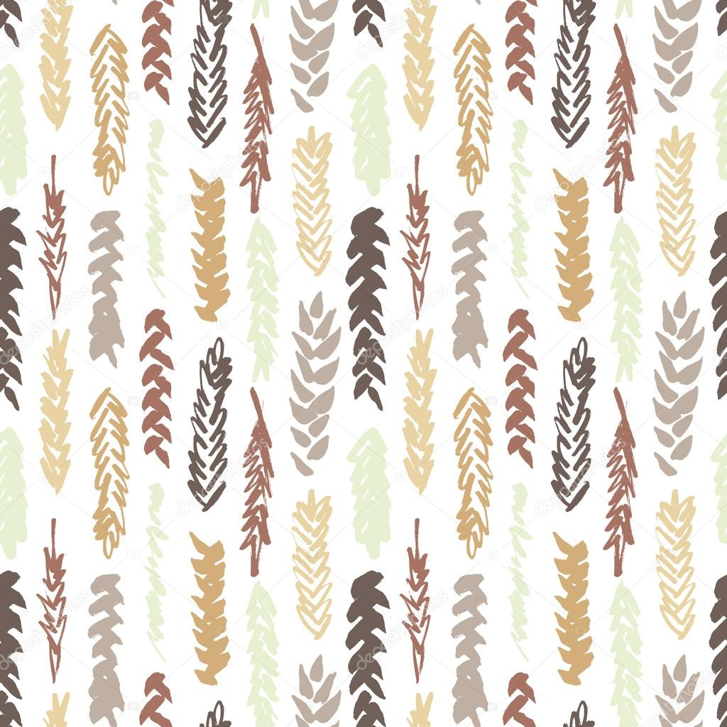 Cute decorative seamless pattern with cereals