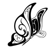 Abstract  decorative butterfly.