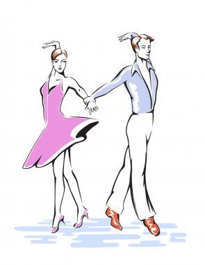 Elegant  Dancing couple