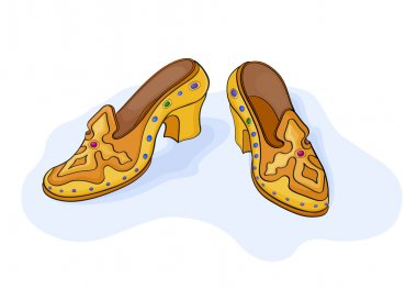 Magic golden shoes