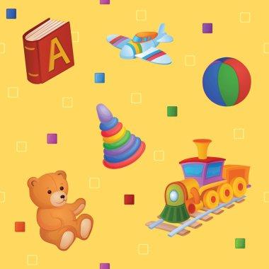 """Картина, постер, плакат, фотообои """"фоном являются разные игрушки ."""", артикул 62890217"""