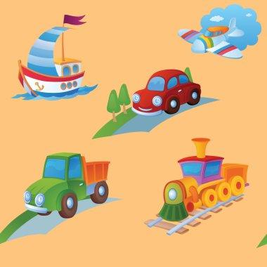 """Картина, постер, плакат, фотообои """"фоном являются разные игрушки ."""", артикул 62890475"""