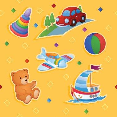 """Картина, постер, плакат, фотообои """"фоном являются разные игрушки ."""", артикул 62890651"""