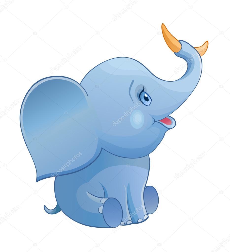 Im genes elefante bebe en caricatura pl tano de holding - Fotos de elefantes bebes ...