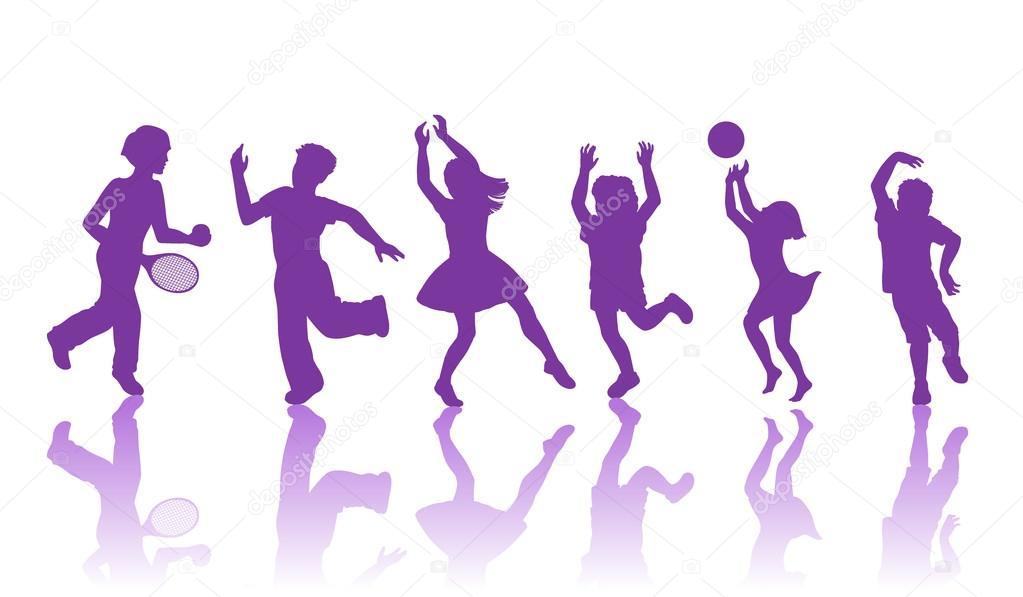 Chicos y chicas bailando — Vector de stock © Polyudova #62982015