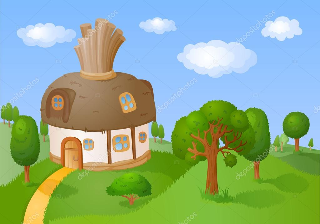 Little House with reed roof