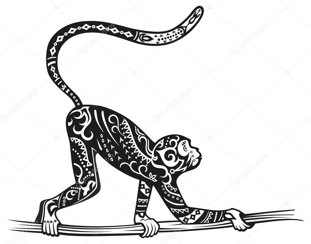 00553927b stylized figure of monkey — Stock Vector © Polyudova #82609194