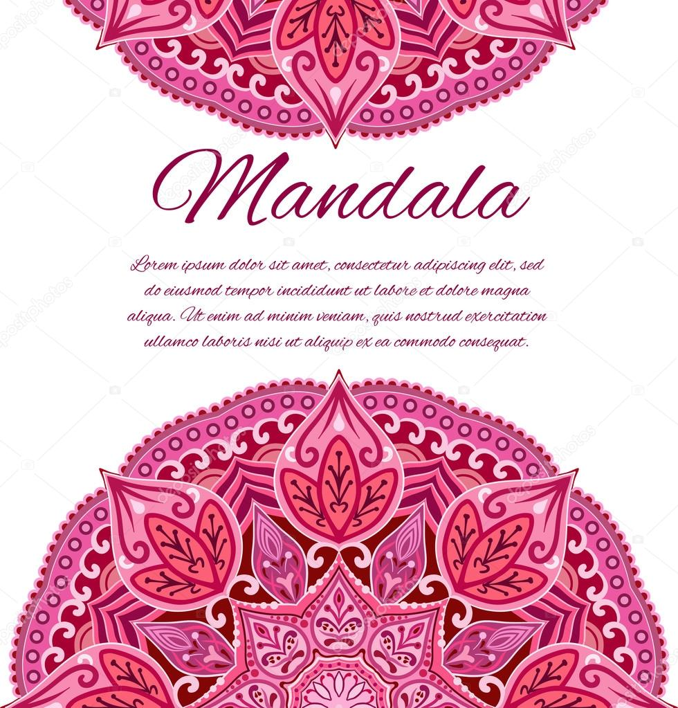 Vector card with mandala vector background card or invitation vector card with mandala vector background card or invitation vector mandala red mandala wedding invitation geometric circle element stopboris Choice Image