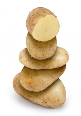 clean Raw potatoes