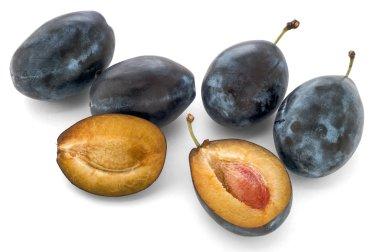 Ripe sweet plums