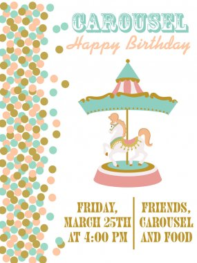Carousel birthday party