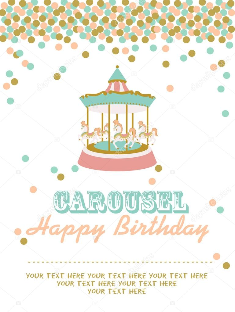 Carousel birthday party Stock Vector MioBuono12 62133299