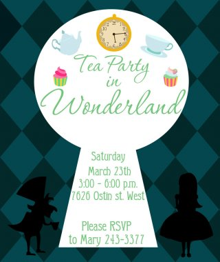 Tea party in wonderland stock vector