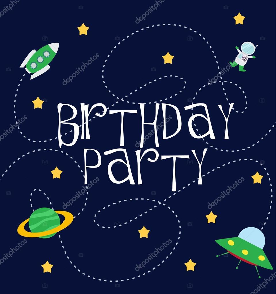 Днем рождения, открытки с днем рождения в космосе